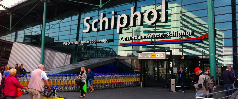 Nieuw: spandoekautomaat op Schiphol!