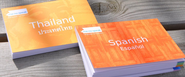 Vermijd elke taalbarrière met behulp van een Me No Speak book…