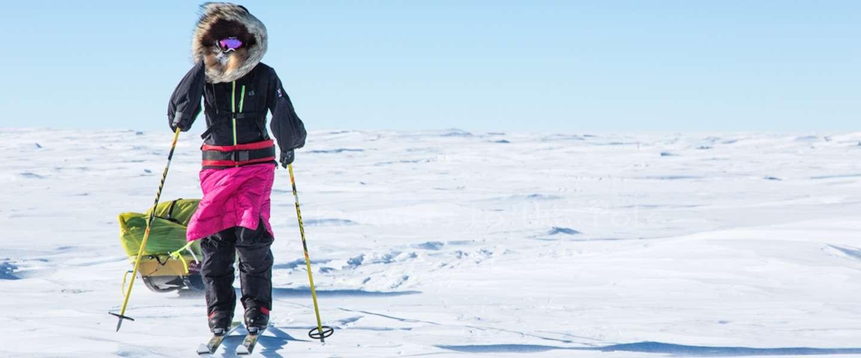 Op ski's de zuidpool oversteken: dit stel doet het!