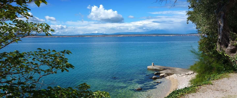 Zweven boven de zee in Kroatië