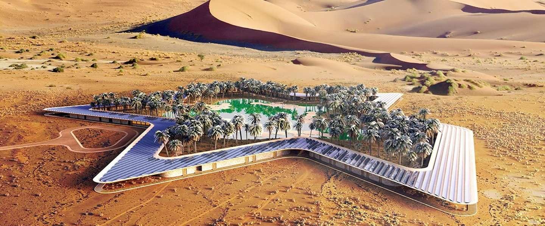 's Werelds groenste eco resort ligt in de woestijn