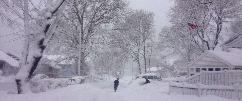 Boston Blizzard Challenge: snow jumpers in Boston