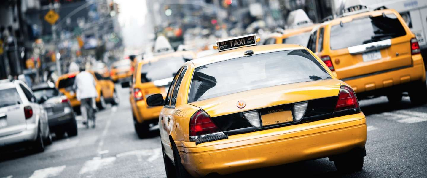 Nieuwe taxi's in New York City