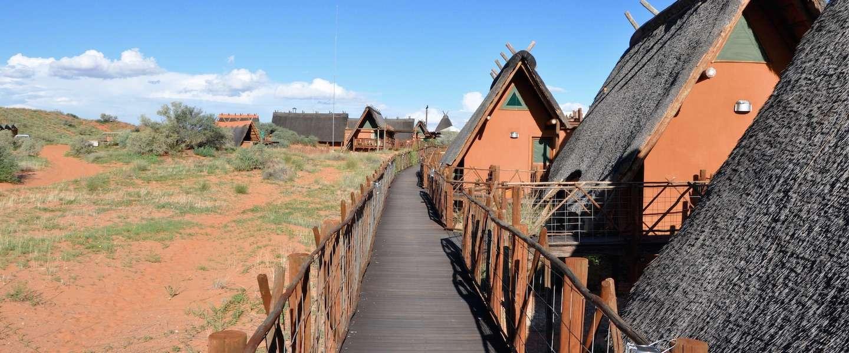 Volledig weg van de bewoonde wereld in Xaus Lodge