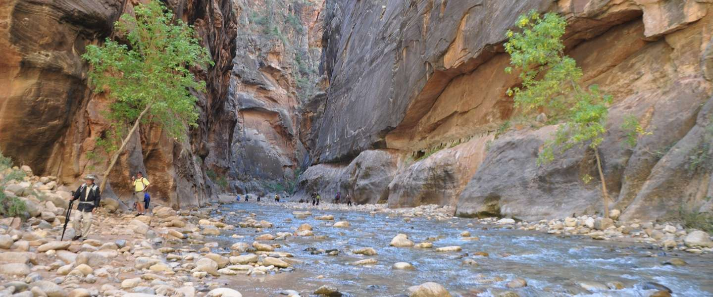 The Narrows in Zion National Park, Utah is de natste hike ooit