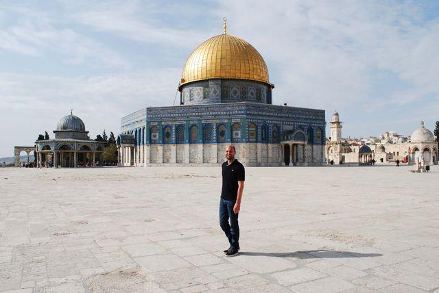 De Rotskoepel in Jeruzalem op de Tempelberg