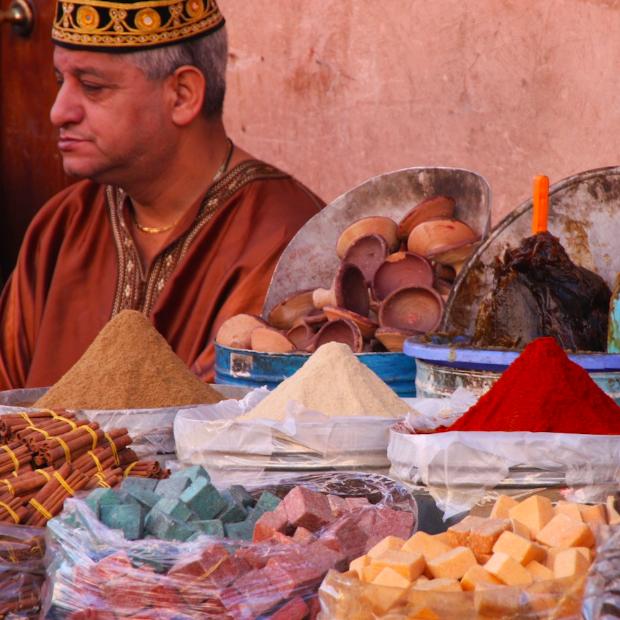 Marrakech_Verkoper_Souks
