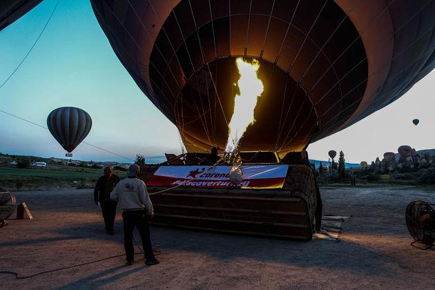 ballonvaart-vertrek