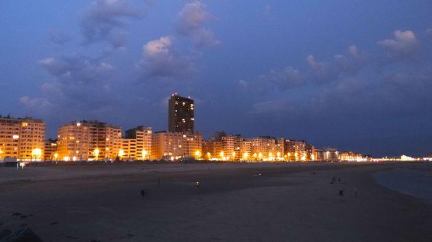 Boulevard Oostende by night