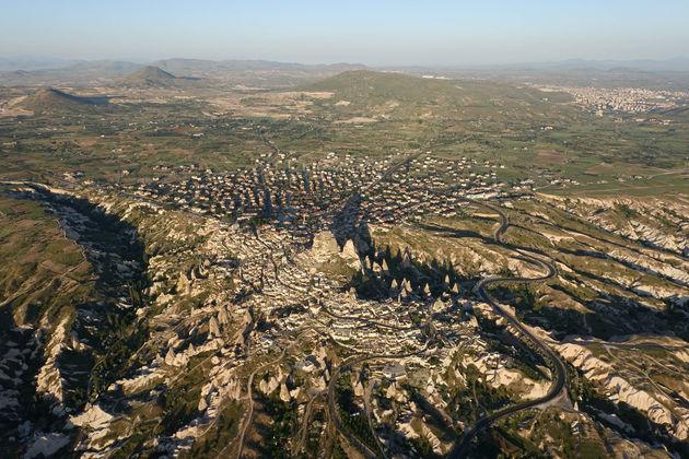 Cappadocië-uitzicht