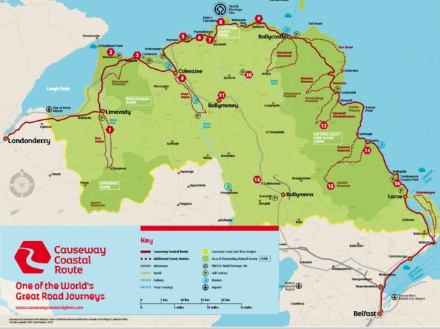 Causeway-Coastal-Route-kaart