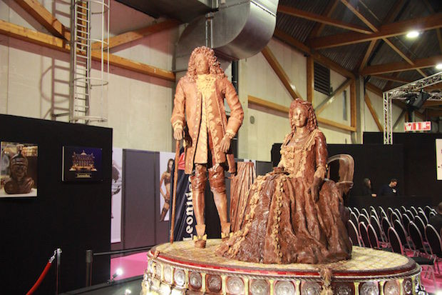 chocolade beeldhouwwerk