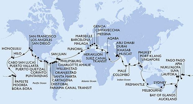 cruise-wereldreis