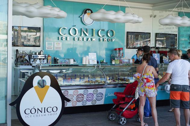 conico ice cream shop malaga