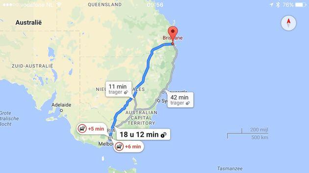 google-maps-app-op-reis