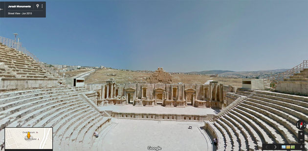 Google Street View Jerash Roman South Theater