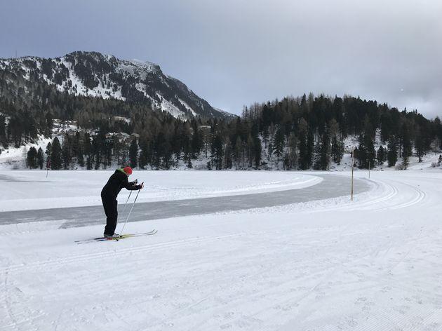 Lanlaufen rond het meer Turracher Höhe