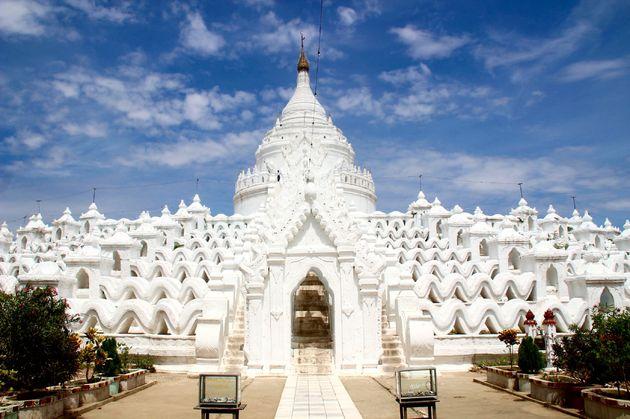 Myanmar-Mandalay-witte-tempel