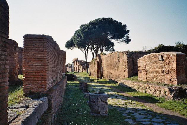 Ostia Antica havenstad bij Rome