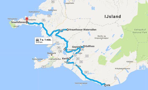 roadtrip-ijsland-Route