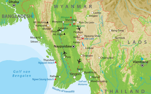 route-rondreis-myanmar