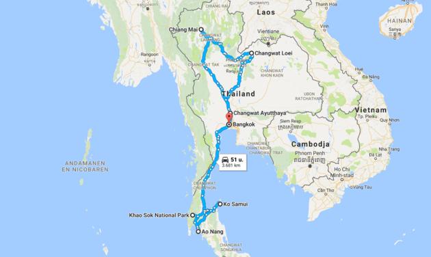 route-rondreis-thailand