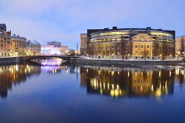 Stockholm by night Opera