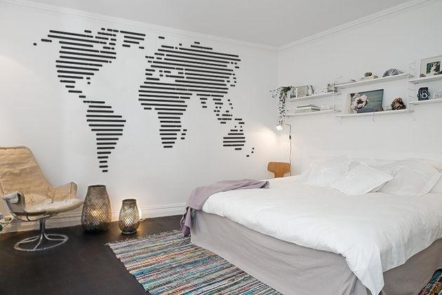 streepjes-wereldkaart