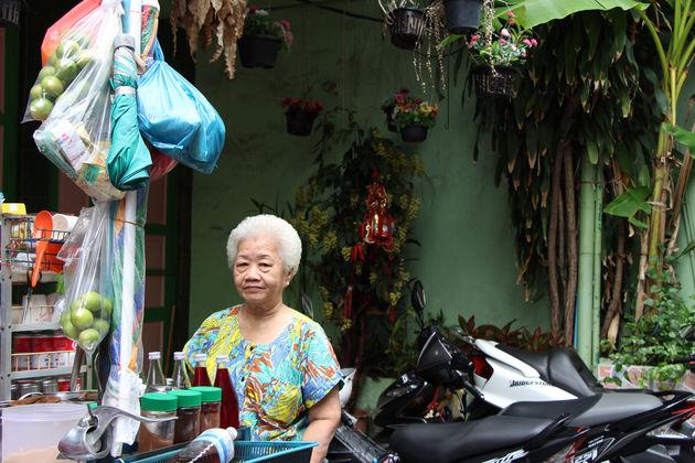 Typisch straatbeeld in Chinatown