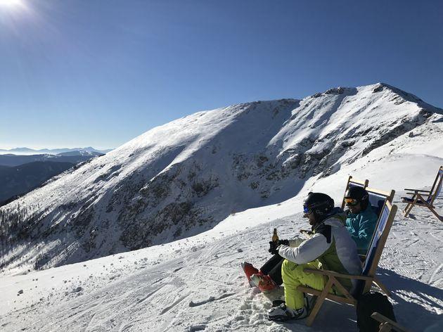 Uitzicht vanaf de top Turracher Höhe