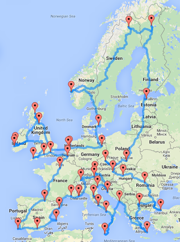 whats best travel across spain road trip take train