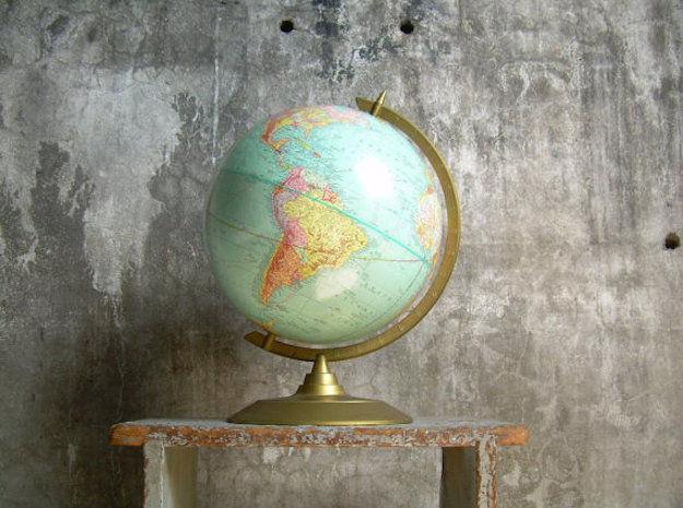 wereldbol-vintage