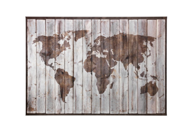 De 10 mooiste wereldkaarten for Ikea ladeblok hout