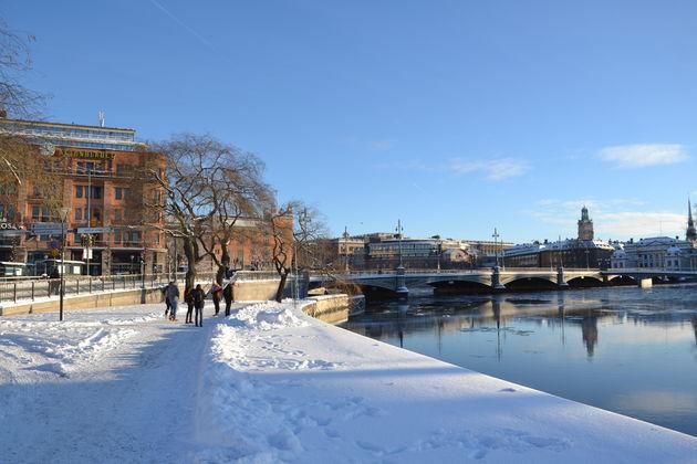 Winters weer in Stockholm