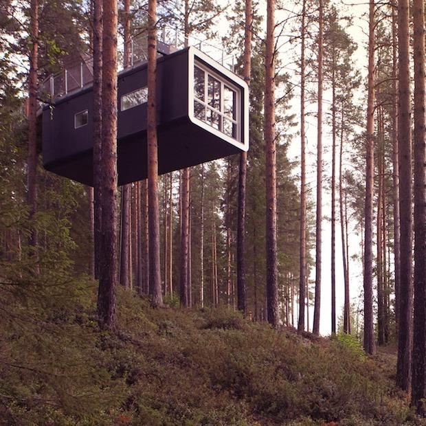 Bijzonder overnachten in het Treehotel in Zweden