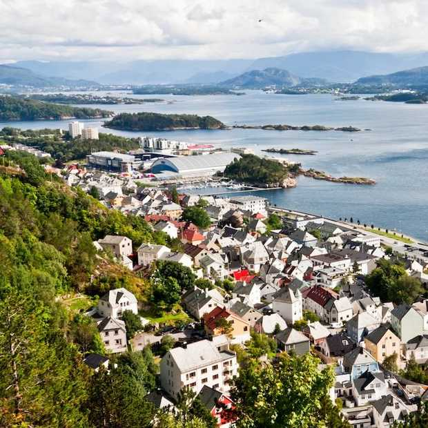 Art nouveau en cultuur snuiven in Ålesund in Noorwegen