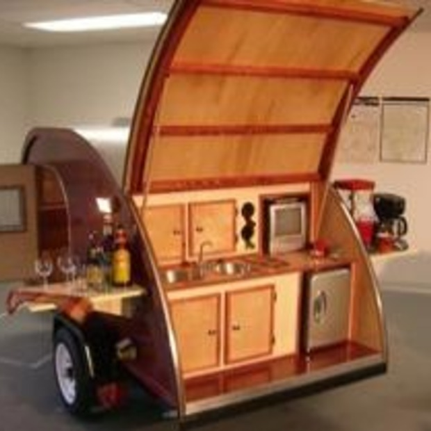 Unieke retro caravan: Big Woody Camper
