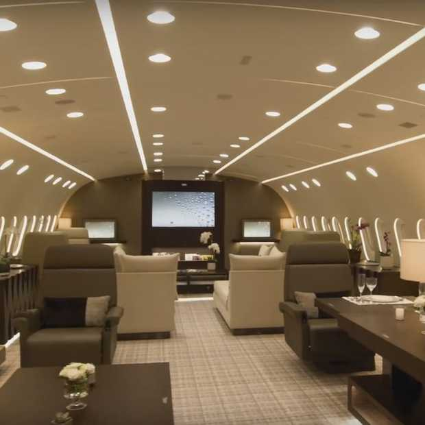 Ultieme luxe: vliegen in een privé Boeing 787 Dreamliner