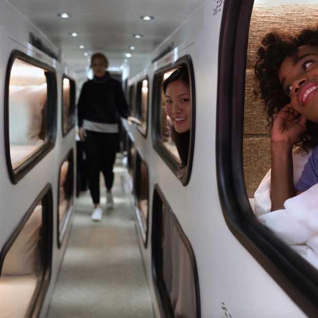 Cabin: dit rijdende hotel in de VS heeft toffe slaapcabines