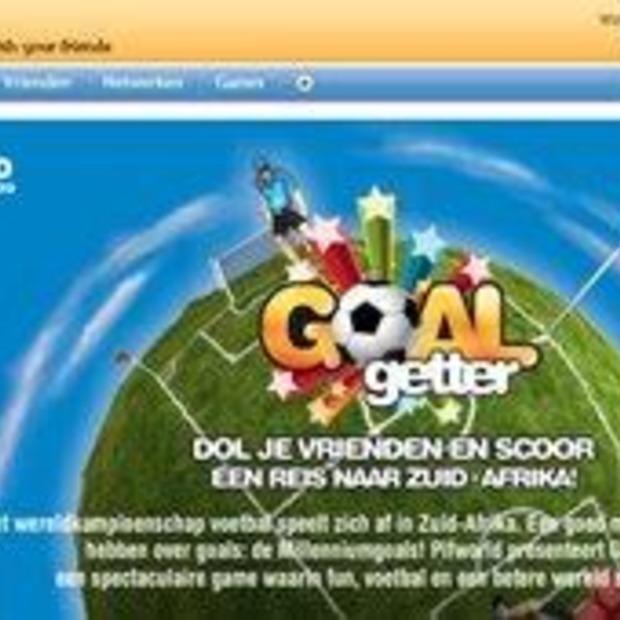 Voetbalgame Goalgetter voor het goede doel