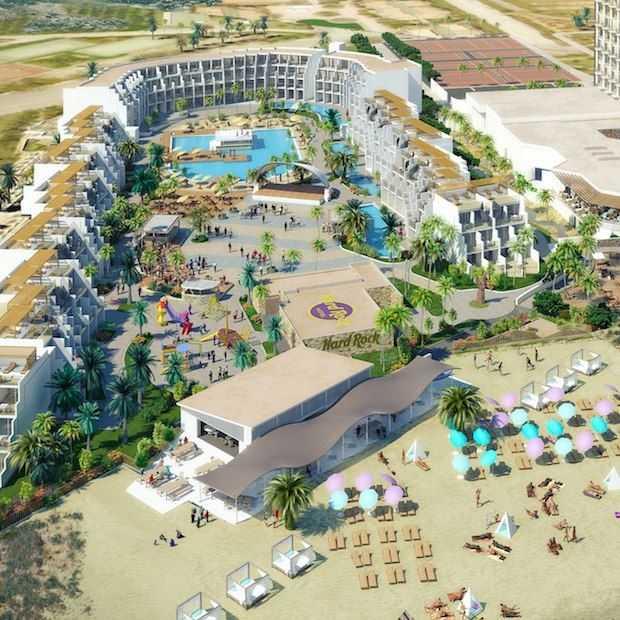Half mei opent het eerste Hard Rock Hotel van Europa op Ibiza