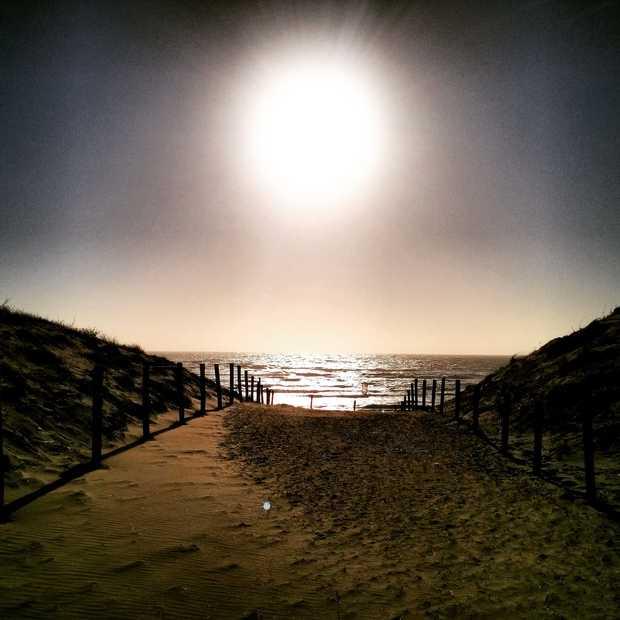 Het regent zand in De Kennemerduinen