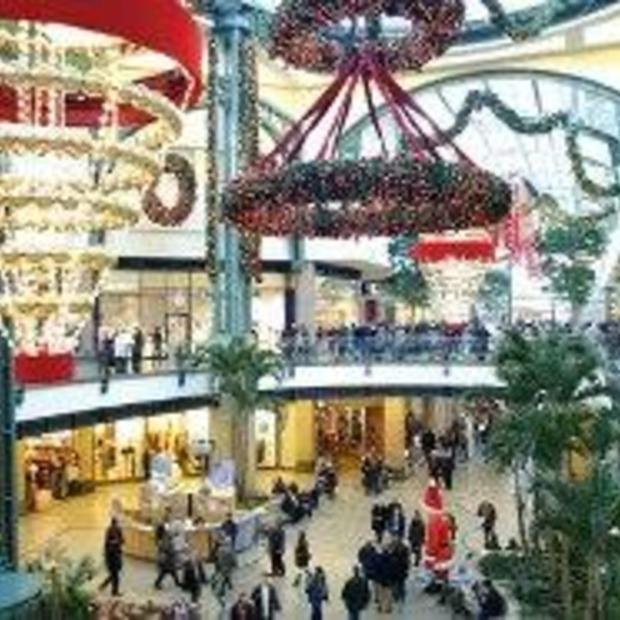 Kerstmarkt in winkelcentrum CentrO Oberhausen