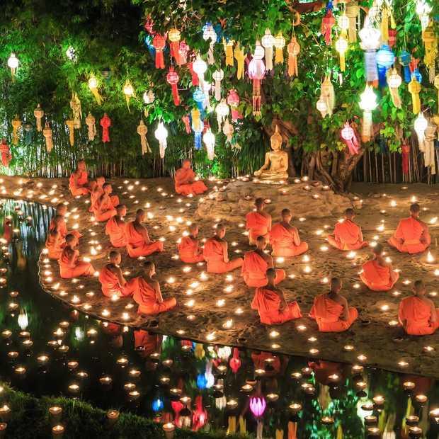 Loi Krathong Sai: dit Thaise lichtfestival wil je een keer meemaken