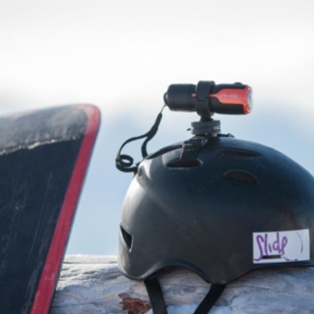 Nieuwe waterdichte actiecamera Mio MiVue M350 voor het opnemen van outdoor actiebeelden