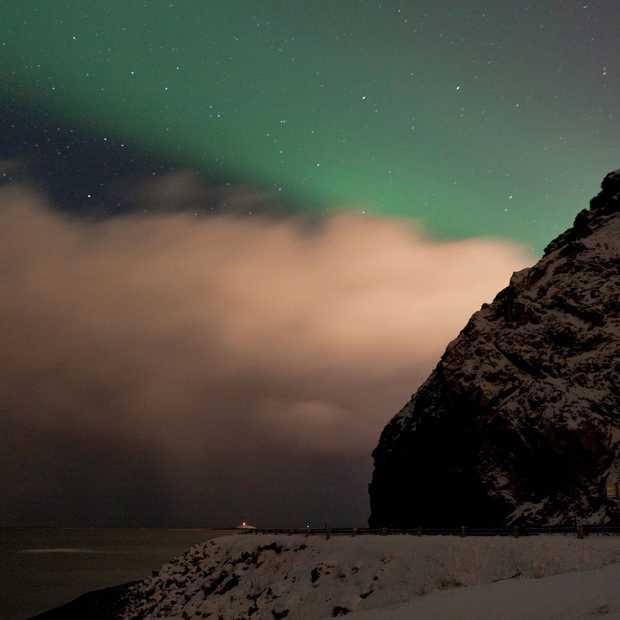 Op noorderlicht-jacht in het noorden van Noorwegen