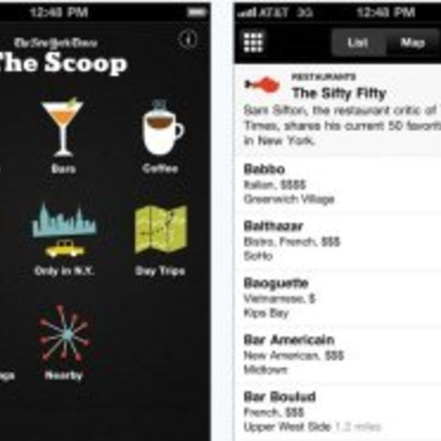 'The Scoop' New York City app