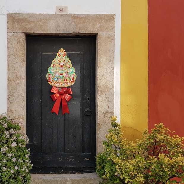 Kerst in het zonnetje in Obidos - Portugal