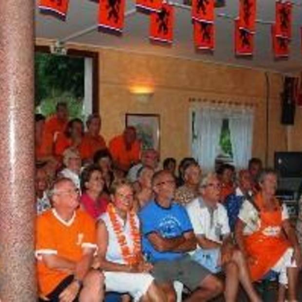 WK Voetbal kijken op de camping