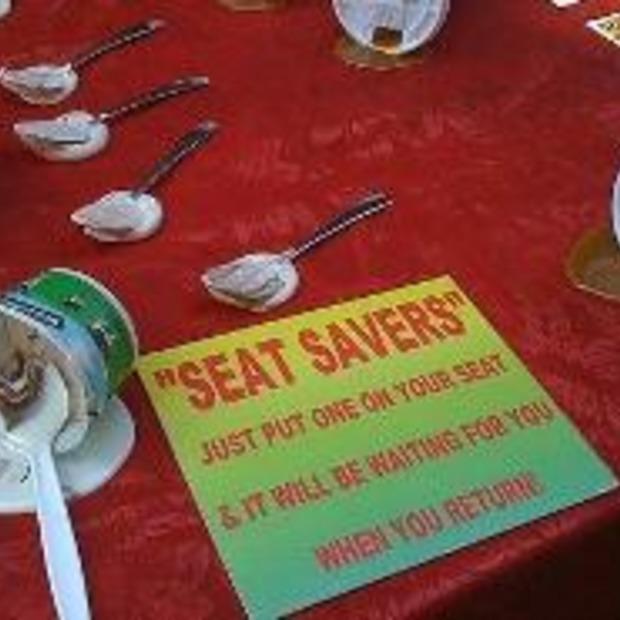 Altijd je stoel bezet houden! The seat saver